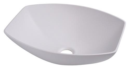 Lavabo semi-ovale blanc, dimensions : 400x300mm H135mm