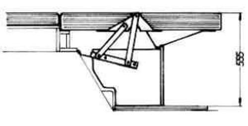 Sitzbankbeschlag mit Anhebung VW bis 8/89