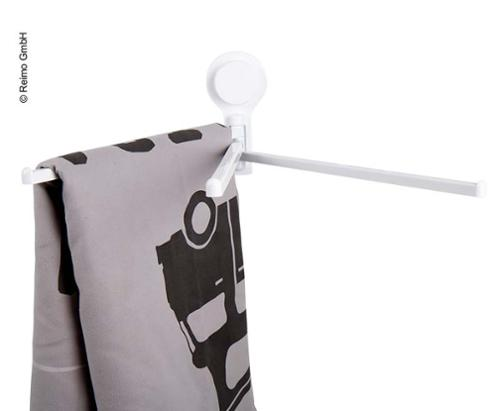 Towel holder with suction cup, 3 arms 337 x 66 x 140 mm