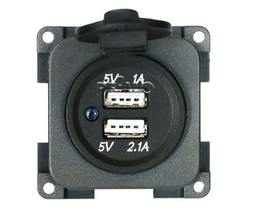 USB double charging socket 5V / 1A + 2,1A