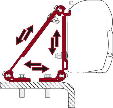 Adapterskinne til Fiamma Markise F45 kan bruges universelt