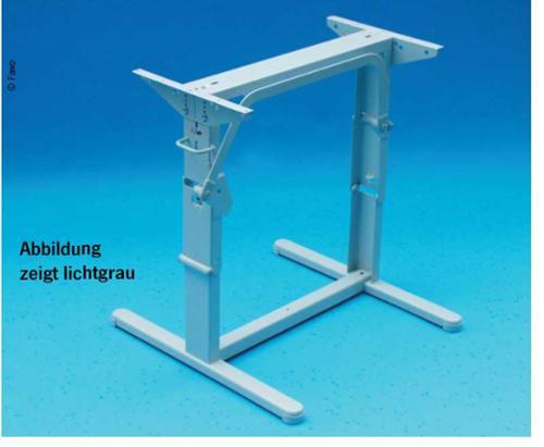 Levante la mesa aut. 116/26 anthra mesa elevadora otomana longitud 60cm antracita